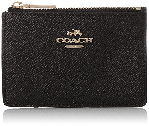 COACH Women's Embossed Txrd Leather Mini Skinny LI/Black Cell Phone Wallet ** READ MORE INFO @: http://www.passion-4fashion.com/handbags/coach-womens-embossed-txrd-leather-mini-skinny-liblack-cell-phone-wallet/