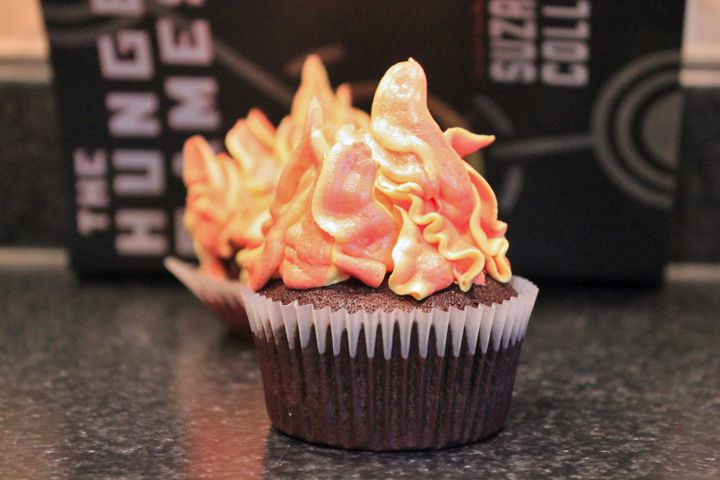 Hunger Games Cupcake On Fire How To Make Fire Icing