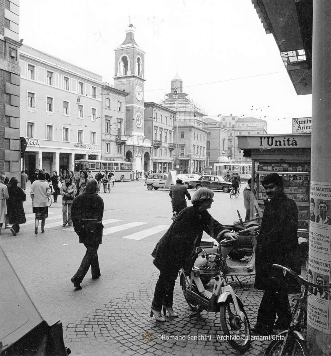 P. zza 3 martiri anni 70 Bianco e nero, Anni 70, Rimini