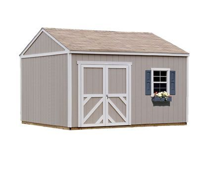 Handy Home Columbia 12x12 Wood Storage Shed Kit. Cost $1929.95