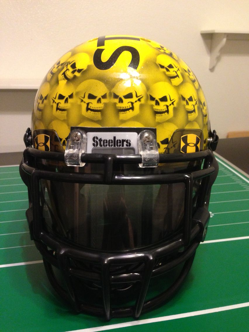 Steelers Football helmets, Skull helmet, Steelers
