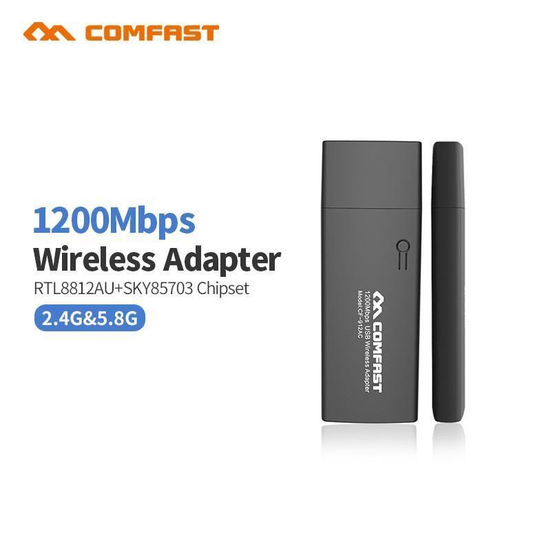 COMFAST CF 912AC 1200M 80211AC Laptop Dual Band 24Ghz 5Ghz USB 30