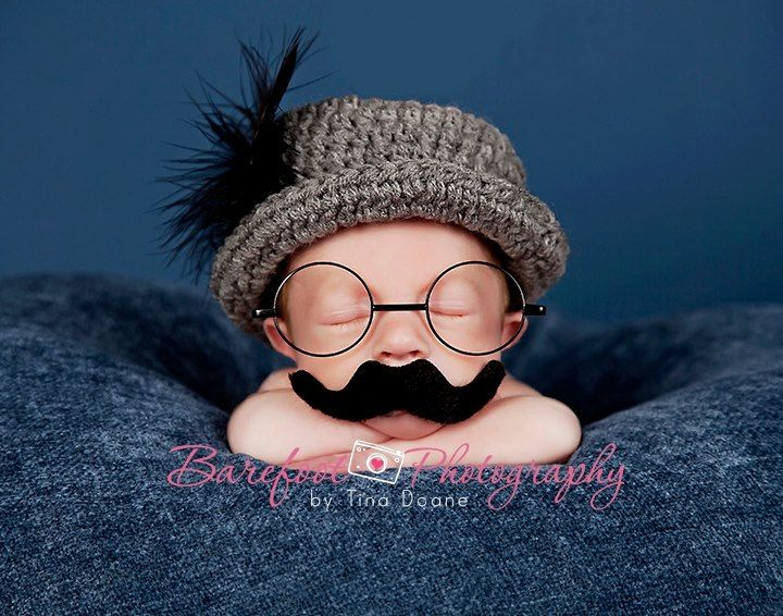 He is too cute!!!  (Classic vintage Fedora. $25.00, via Etsy)