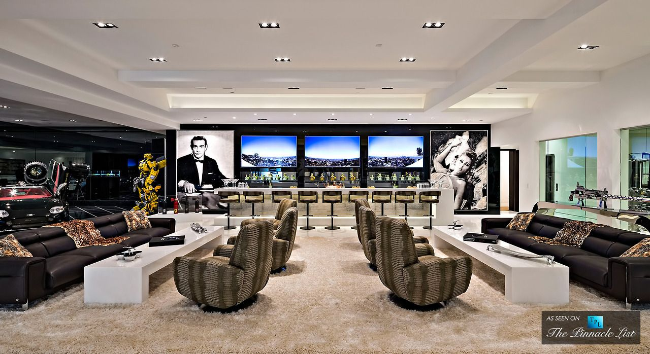 Home Interior Design Massive Basement Game Room And Wet Bar In 250 Expensive Houses Modern Mansion Home