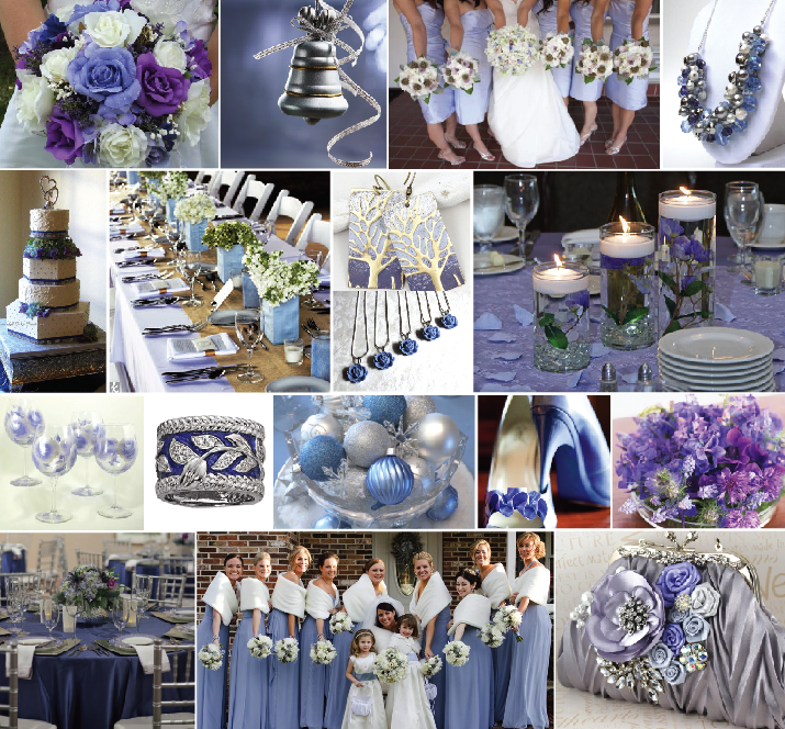Ideas By Andrea Winter Color Combo Periwinkle Silver