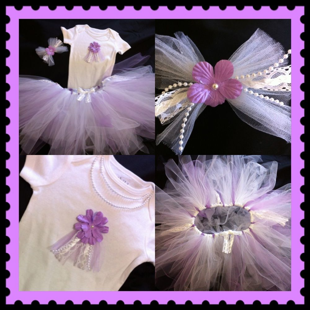 DIY PROJECT: Onesie + Tulle + Elastic + Personalized