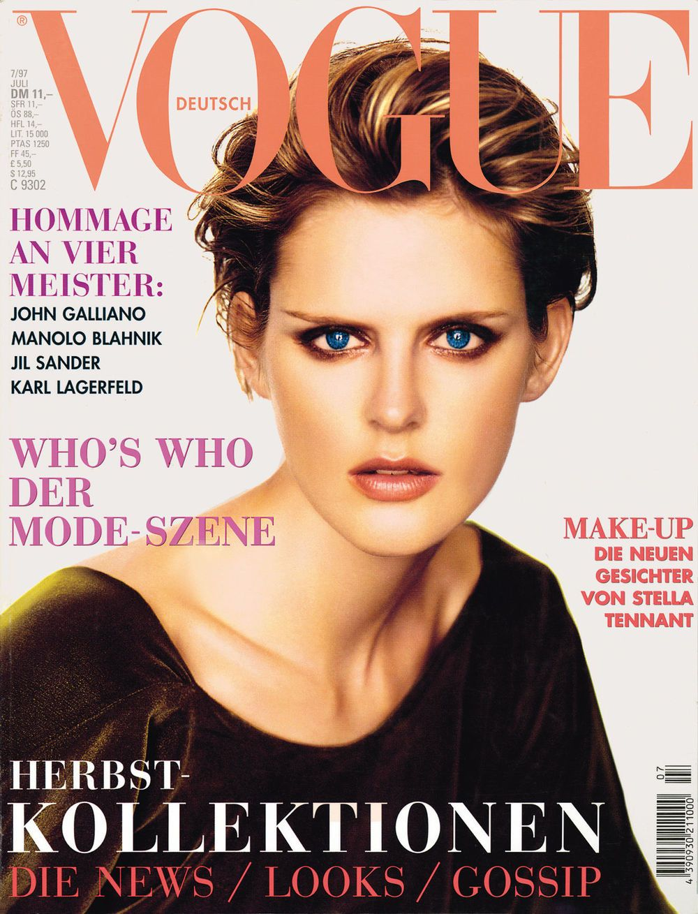 Stella Tennant Throughout the Years in Vogue | Stella tennant, Vogue  deutsch, German vogue