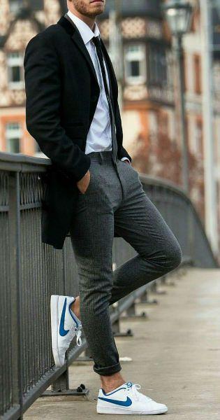 como usar tenis hombre universidad | Moda hombre, Moda ropa