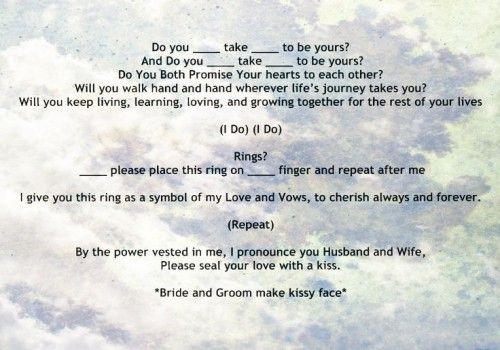 My Non Religious Short And Sweet Wedding Ceremony Script Par 3 Vows Weddings Officiant