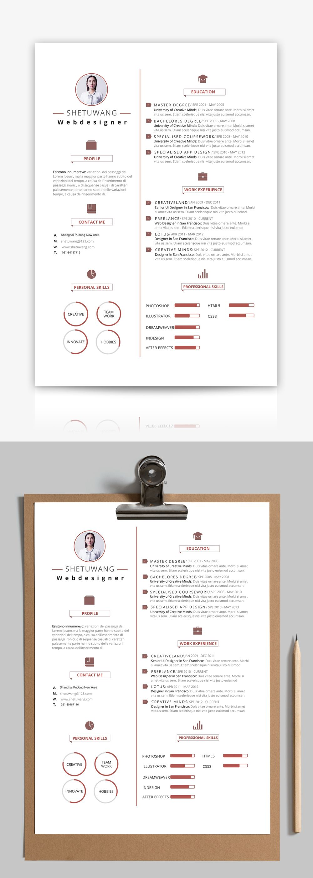 english resume template Resume, Templates, Personal resume