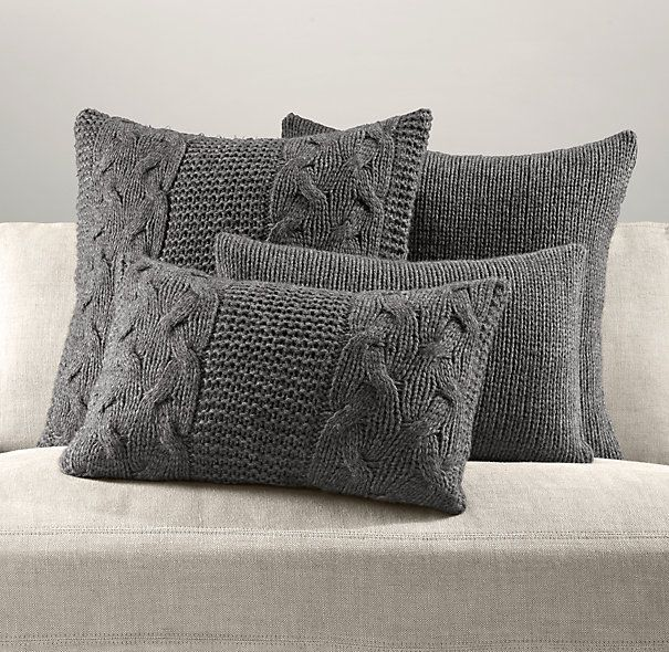 Knitting Pillow Cover : Italian wool alpaca knit pillow cover collection