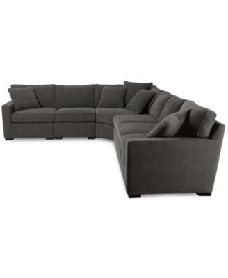 Radley 5 Piece Fabric Sectional Sofa With Apartment Sofa