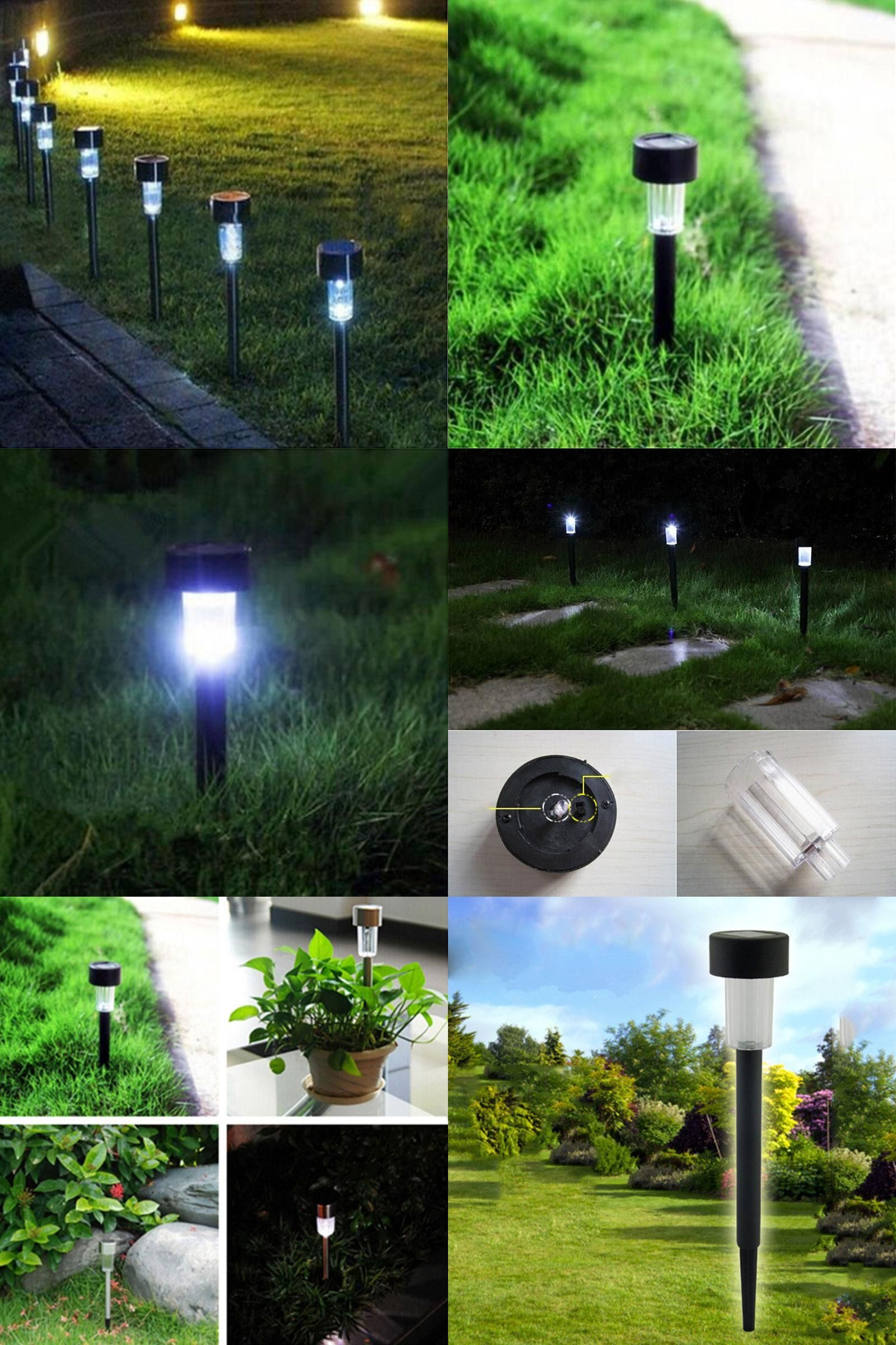 Visit To Buy Hot Sale Waterproof 10 X White Led Outdoor Garden Light Solar Powered Landscape Yard Lawn Outdoor Garden Lighting Outdoor Garden Garden Lighting