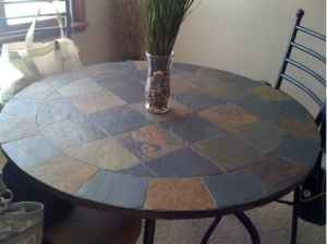 Slate Dining Table Round Slate Dining Table With Chairs 150