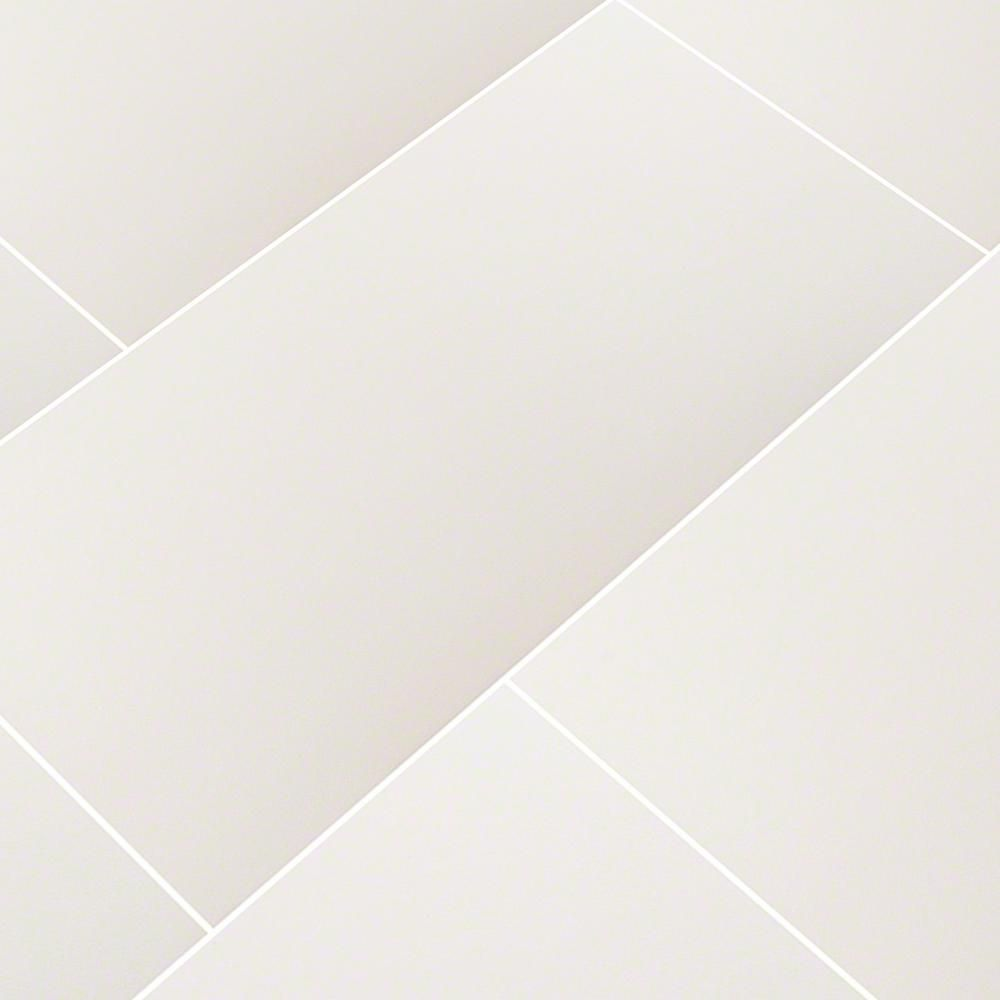 Ms International White 12 In X 24 In Polished Porcelain Floor And Wall Tile 16 Sq Ft Case Flooring Wall Tiles Floor And Wall Tile