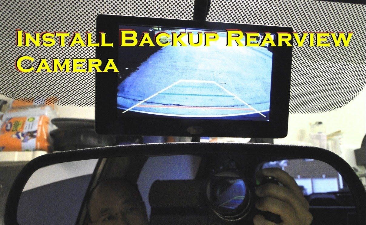 How To Install Rear View Reverse Backup Camera On Car Bmw X5 Wiring