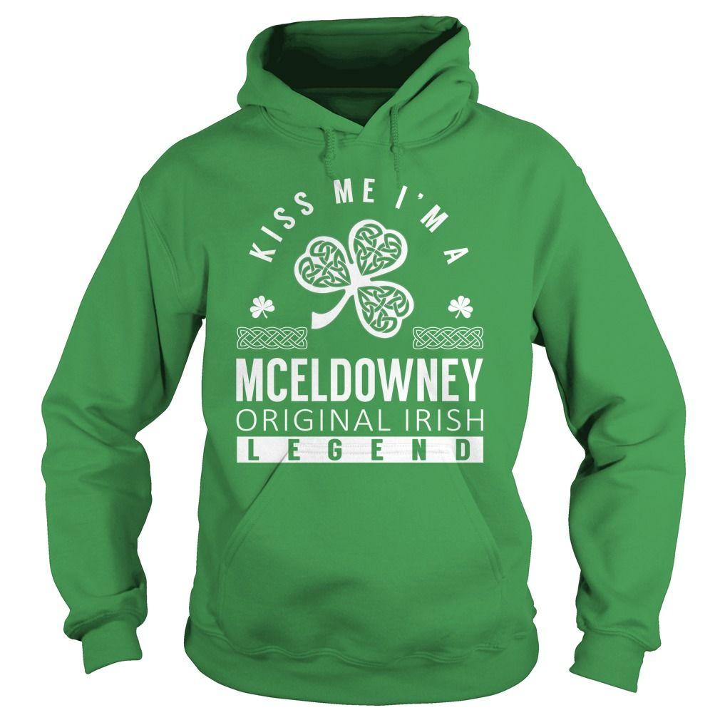 Kiss Me MCELDOWNEY Last Name, Surname T-Shirt