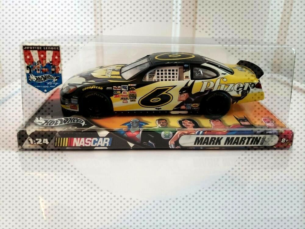 Mark Martin Hot Wheels Justice League 124 Diecast Vehicle NASCAR Batman