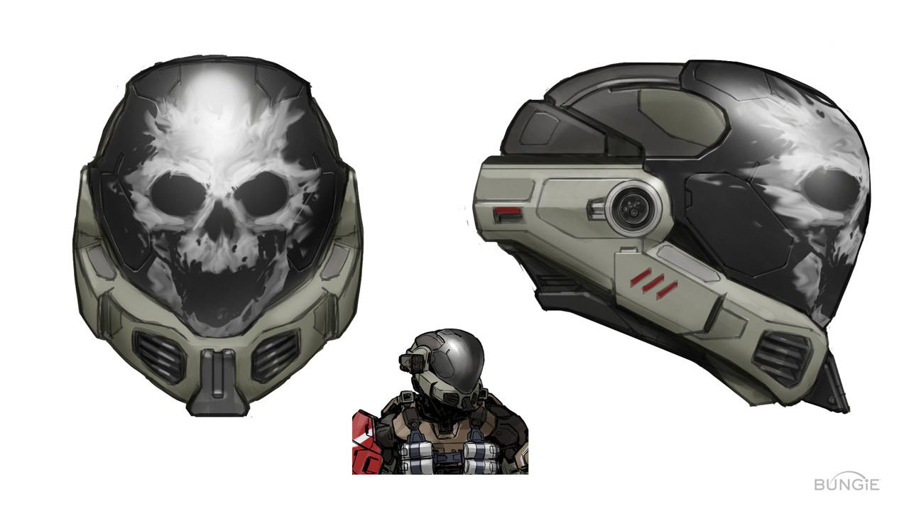 Halo Emile Helmet Concept Halo Spartan Armor Halo Reach