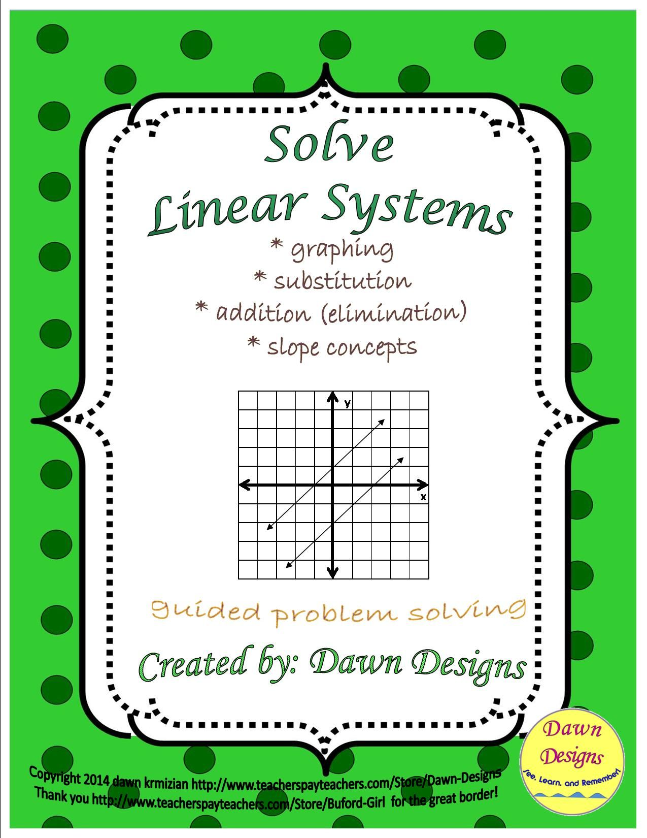 Solve Linear Equations By Graphing Substitution And