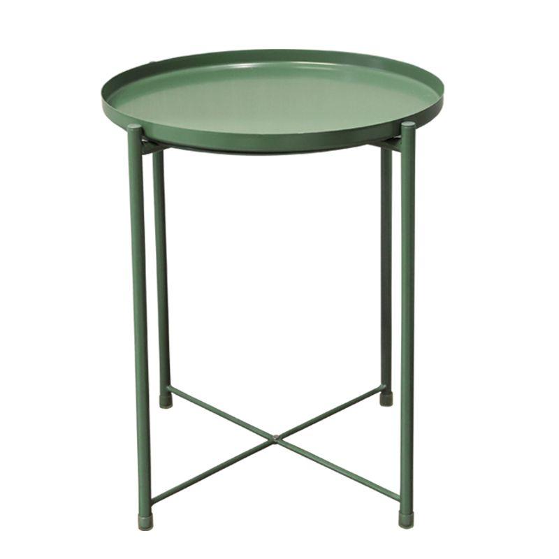 Coffee Table Small Round, Round Table Storage Racks