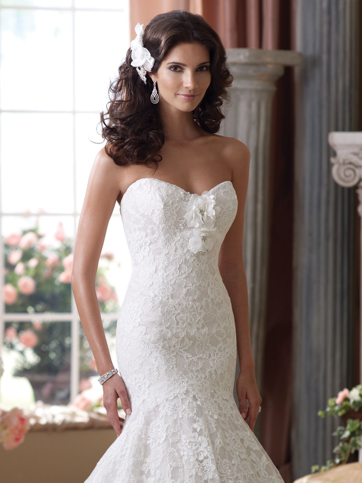 Low back lace mermaid wedding dress  Wedding Dresses  u Spring   David tutera Wedding dress