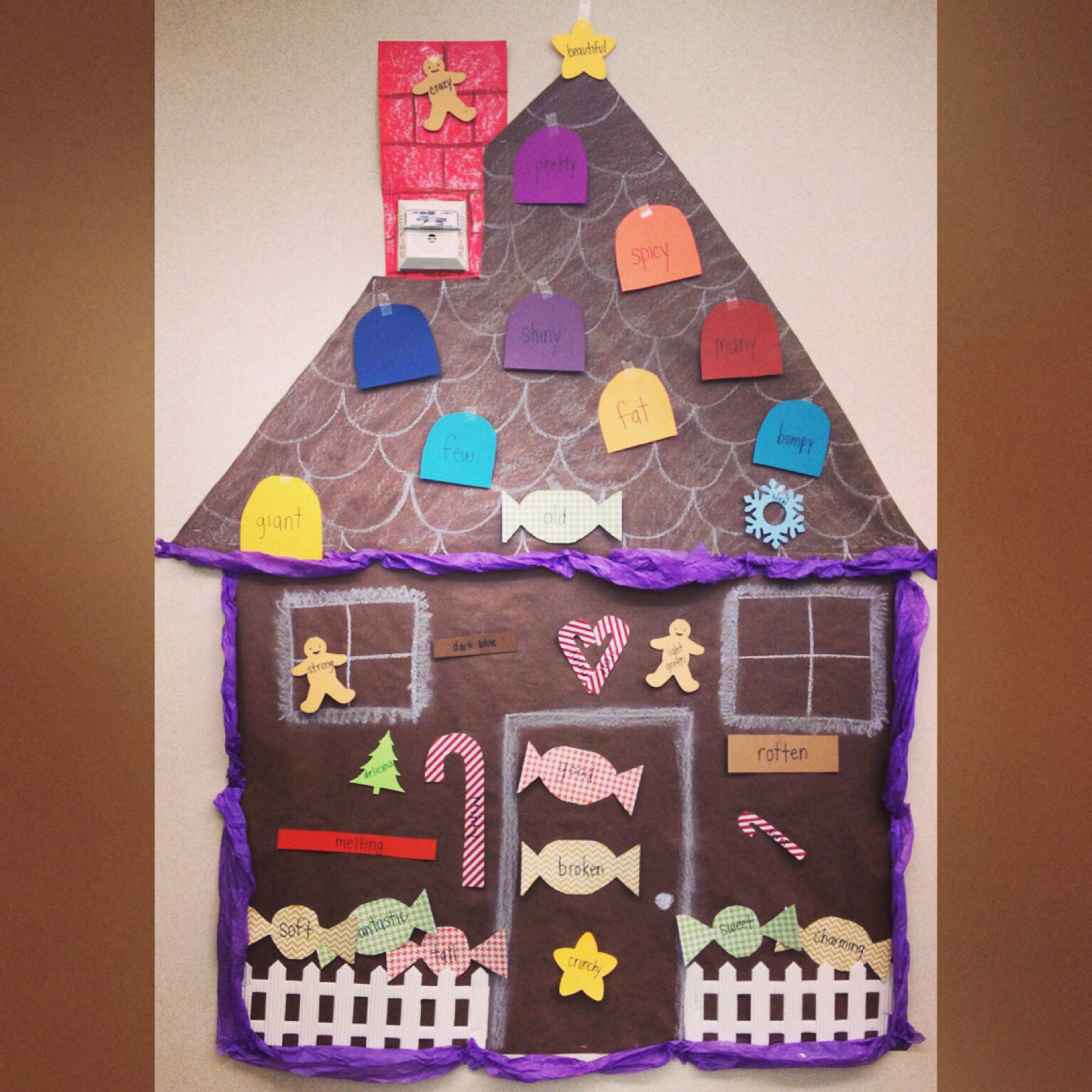 An Adjective Gingerbread House My First Graders Made To