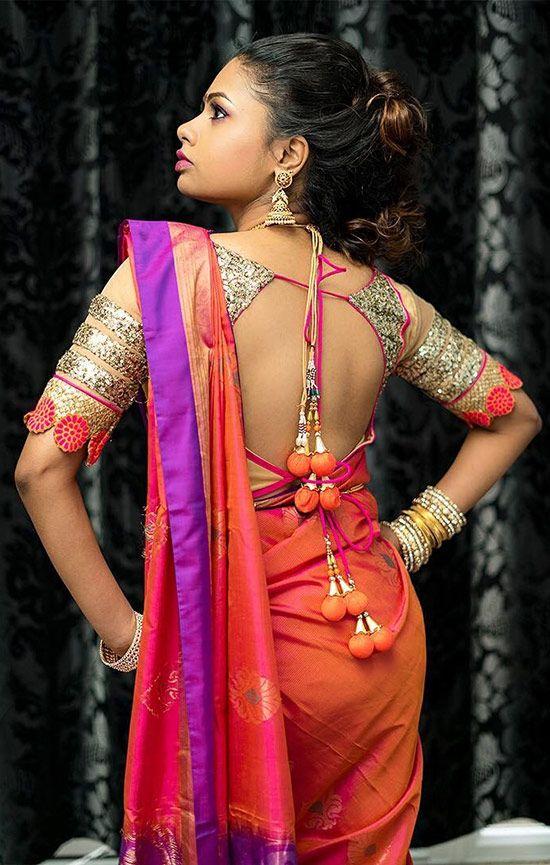 6fbc3beef81bbb 50 Latest Silk Saree Blouse Designs Catalogue 2019   ethnic clothes ...