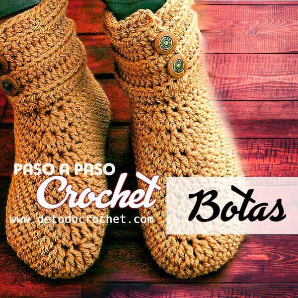 Tutorial de botas tejidas a ganchillo | bota adulto | Pinterest ...