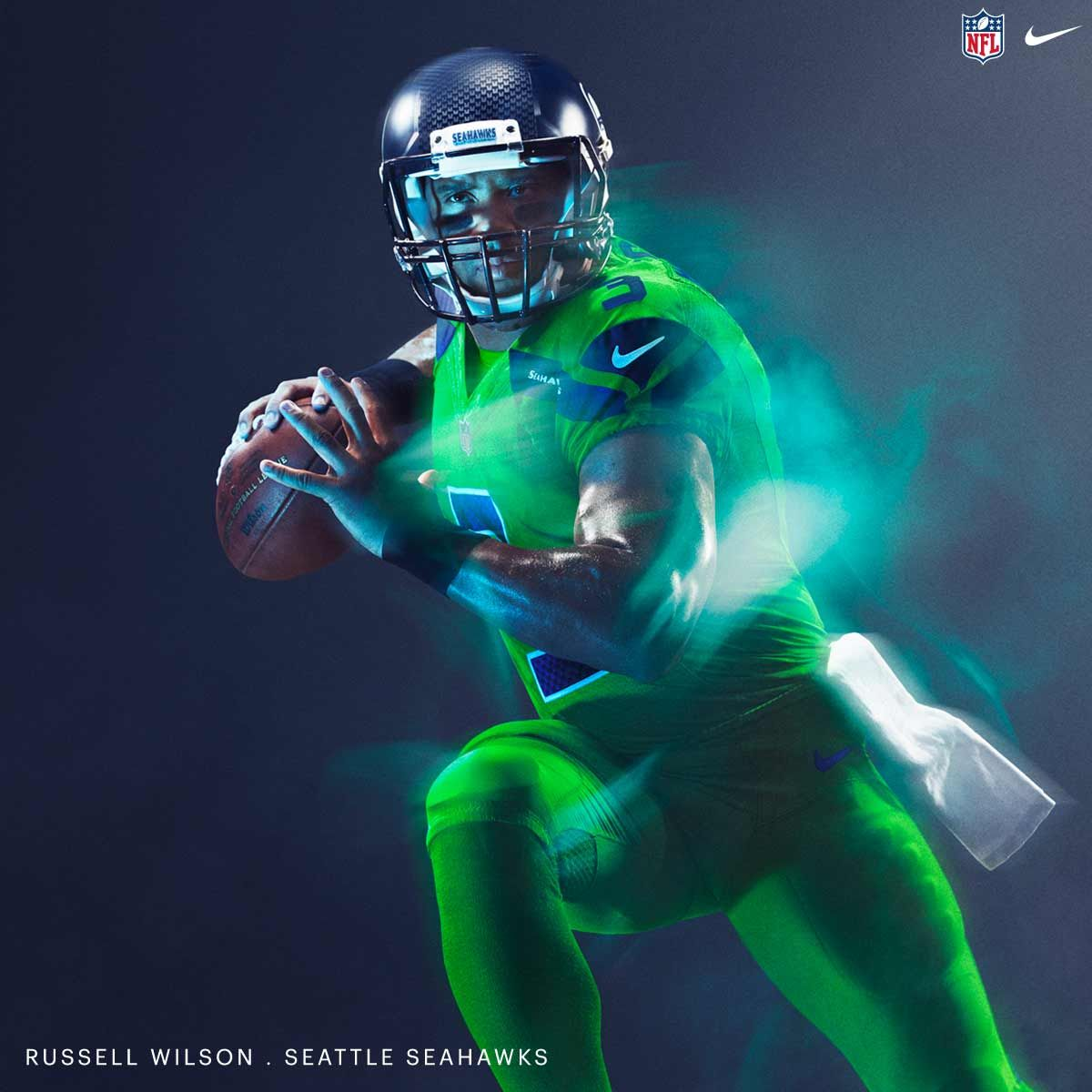 eb8339f9225 NFL Nike Color Rush 2016 Jersey - Seattle Seahawks