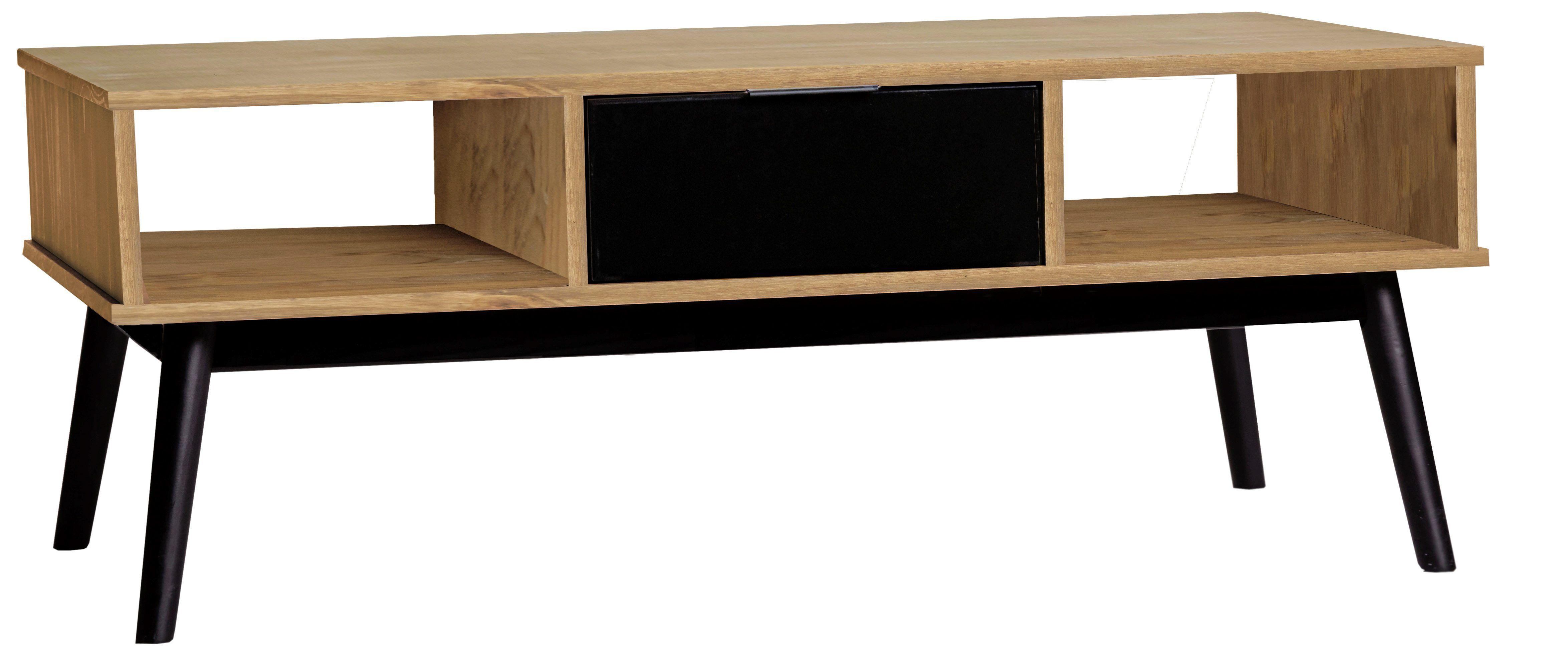 Table Basse Lucia Noir Et Bois Cire But Salon Decoration Scandinave Interieur Coffee Table Wood Coffee Table Wood Decor