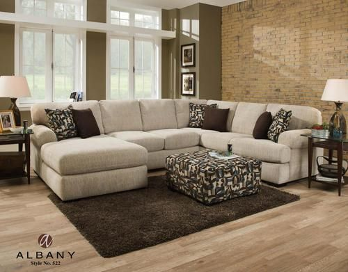 Sectional Sofa DISPLAY MODEL CLEARANCE Albany Warren Camel Sectional Sofa CL LAST ONE