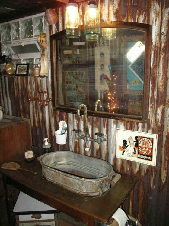 Rustikale Badmbel Ideen  Das Badezimmer im Landhausstil