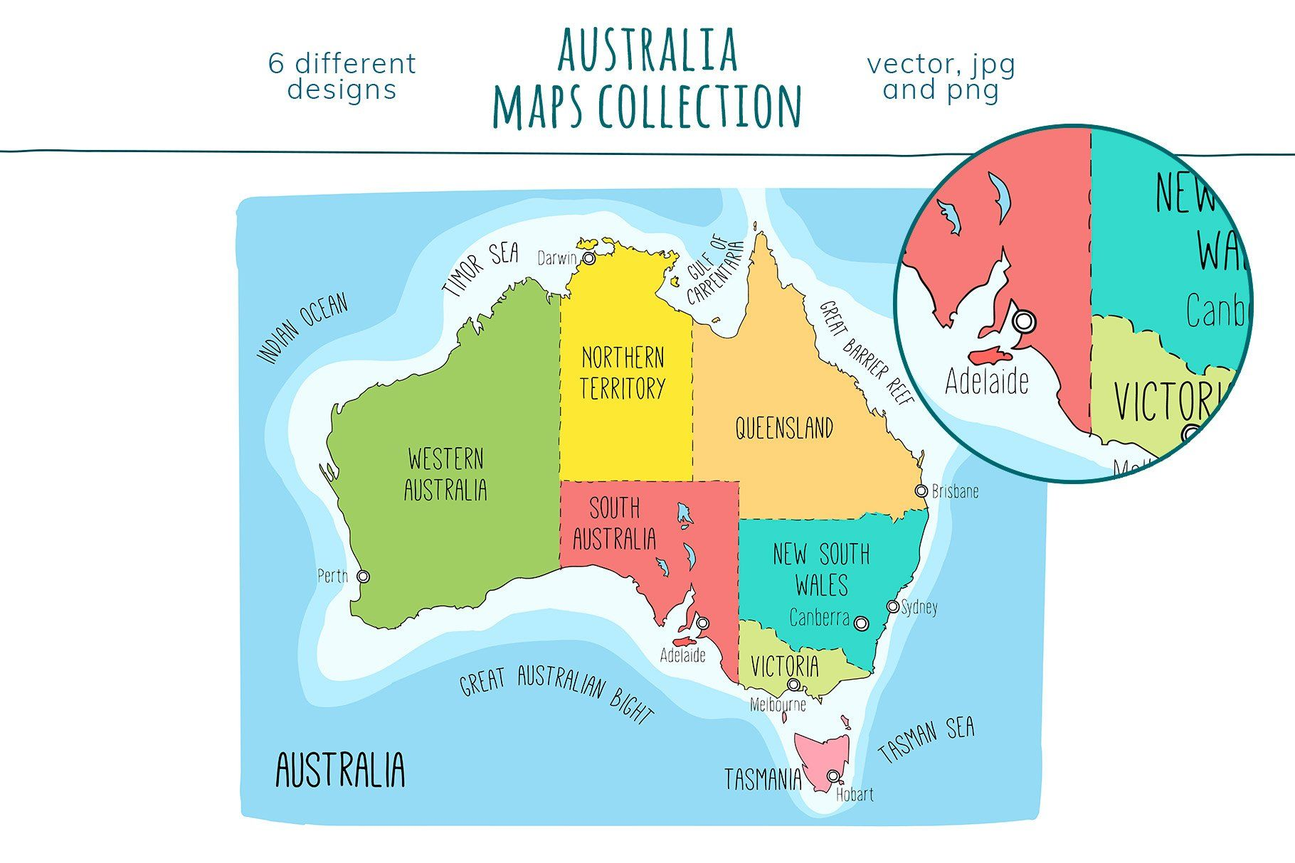 Australia Maps Collection In