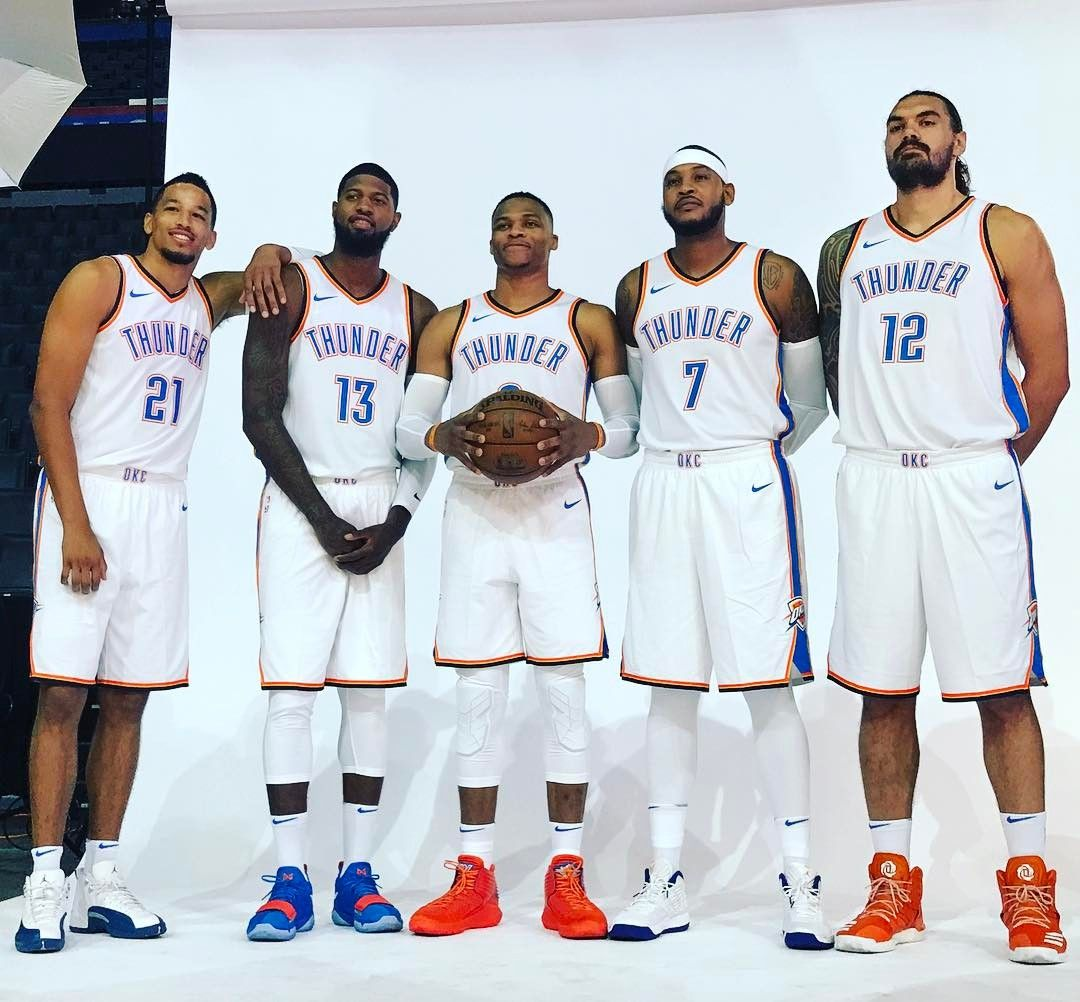 Lineup Okc10 Thunder Players Thunder Basketball Thunder Team