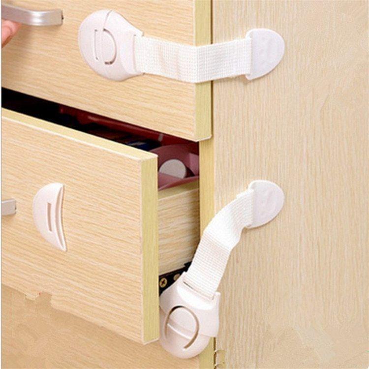 2pcs Safety Locks Baby Kids Cabinet Door Drawer Latch Cupboard Fridge Lock Proof