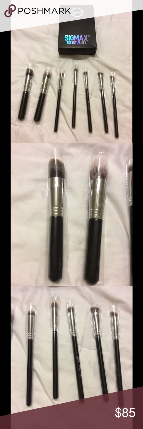 Sigma essential brushes set 10 but I took out 3 NWT (With ...