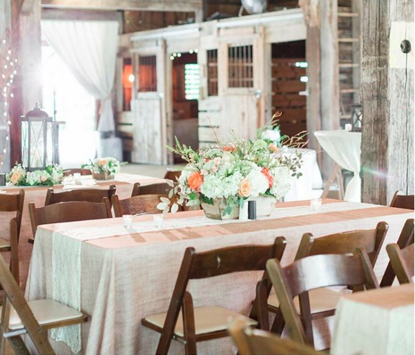 Spring Wedding Decor by Mahaffey Tent of Memphis, TN