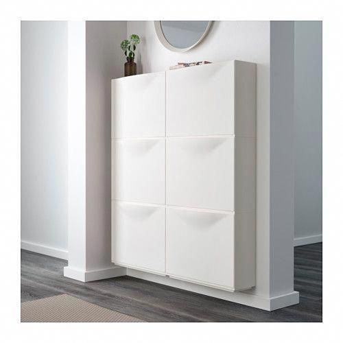 HEMNES Shoe cabinet with 2 compartments - black-br