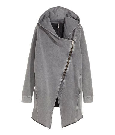 cd9b4e69dd Cardigan in sweatshirt fabric with a lined hood