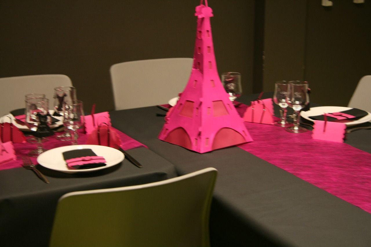 Décoration sur le thème de Paris : salle et table :: Pam et ses 3 ...