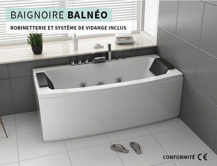 Baignoire Balneo Blanc 170x80x68cm Pas Cher Black Friday Baignoire Cdiscount Soldes Cdiscount Top Soldes Cdiscount Ventes Pas Cher Com Baignoire Balneo Baignoire Balneo