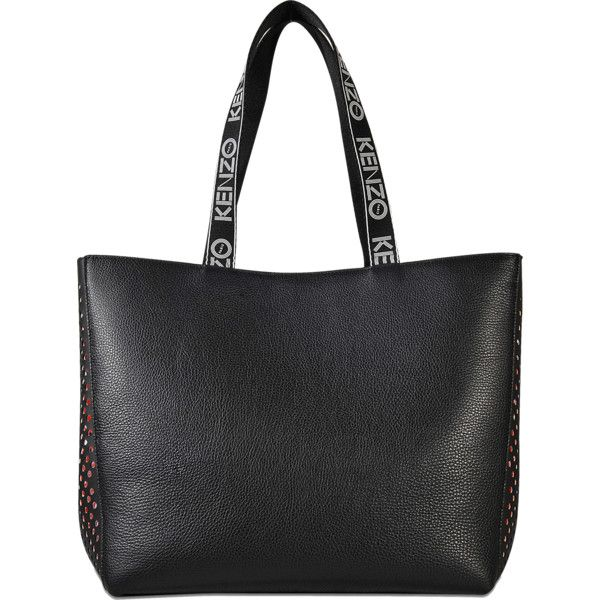 Kenzo sport tote 400 liked on polyvore featuring bags black leather tote bag publicscrutiny Choice Image