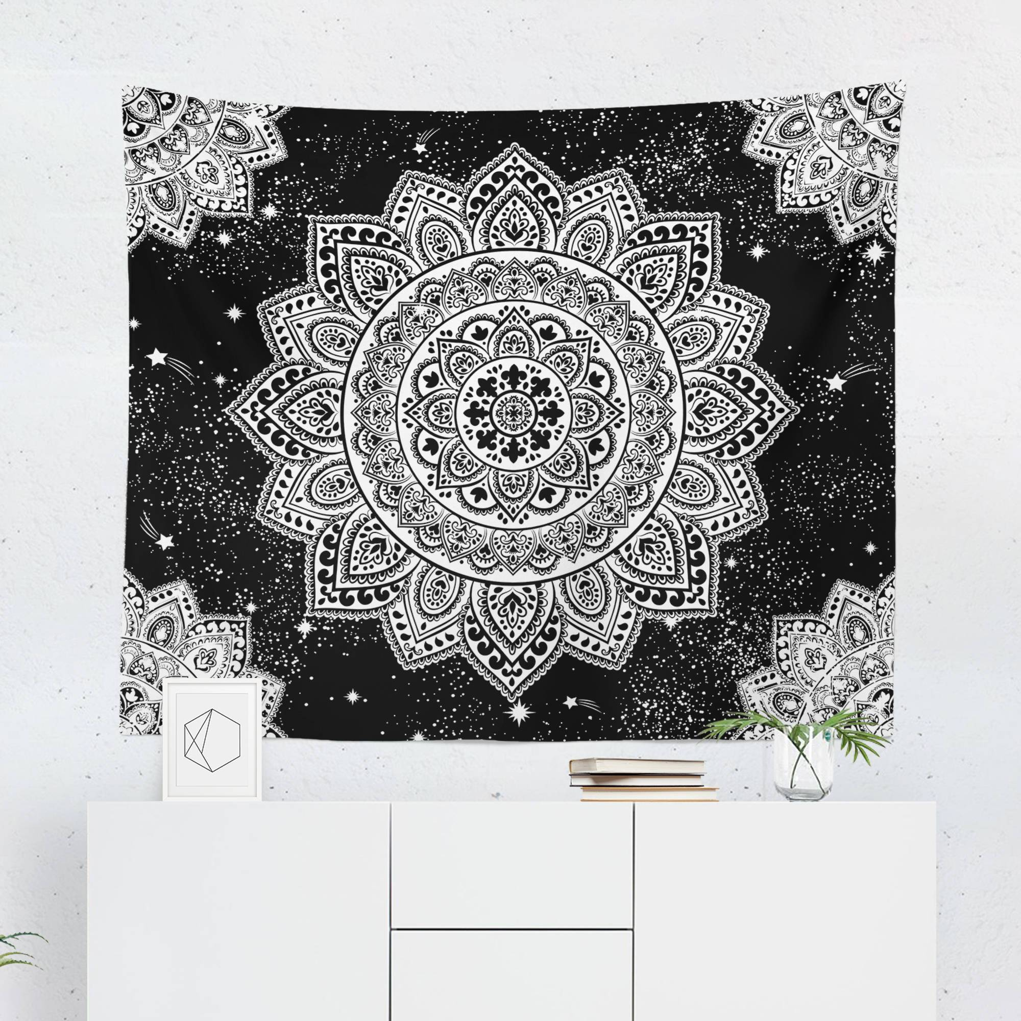 Black And White Tapestry Yinyang Wall Hanging Tapestry Mandala Tapestries Indian Traditio Mandala Tapestries Wall Hangings Tapestry Bedroom Mandala Tapestry