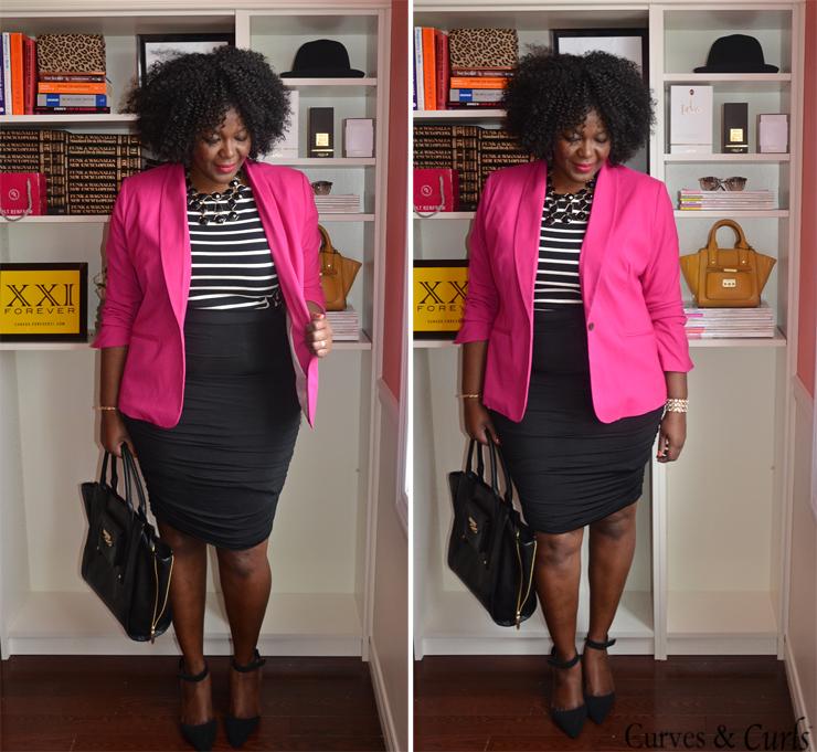 Resultado de imagem para blazer pink plus size | Outubro Rosa ...