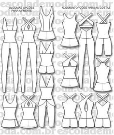 6308d02f3 Moldes de macacões e vestidos fitness | Projetos a experimentar ...