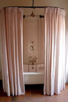 Behind The Shower Curtain Modern Shower Curtains Pink