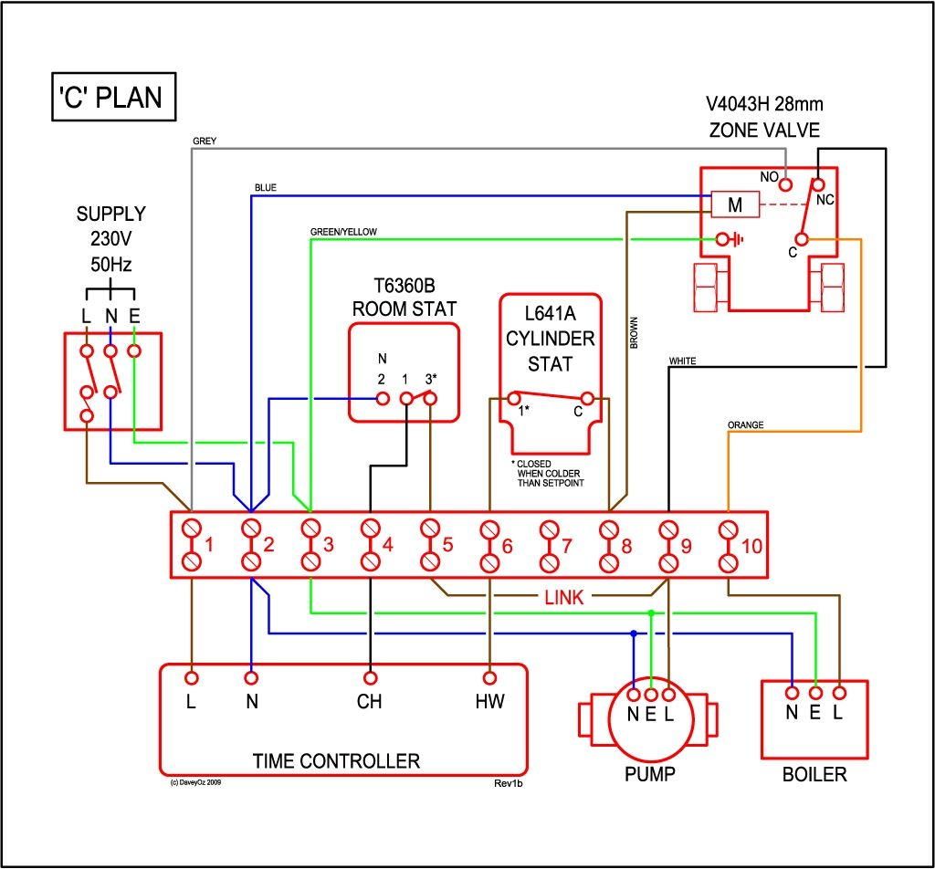 s plan diagram wiring honeywell new central heating and on at [ 1024 x 952 Pixel ]