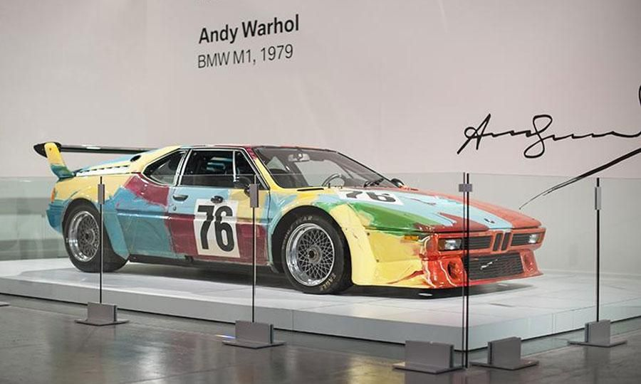 Up Close With Andy Warhol's BMW M1 Art Car;  more at: http://www.autoweek.com/article/20130516/carnews01/130519903#ixzz2Um350360