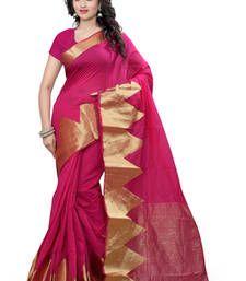 b9f30532bcb1b Buy pink plain Cotton saree with blouse cotton-saree online
